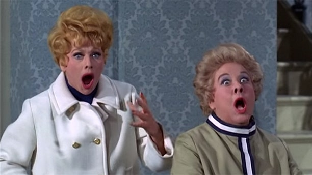 """Lucille Ball (left) greatly admired her on-screen sidekick Vivian Vance, who starred as frumpy Ethel Mertz in """"I Love Lucy."""""""