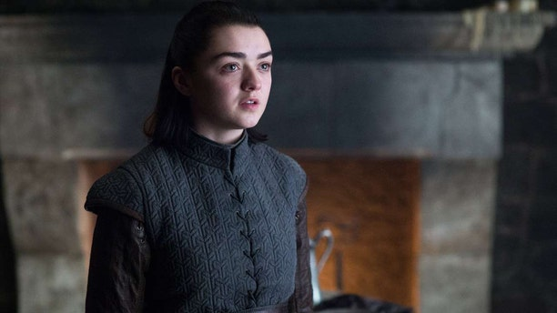 "Maisie Williams as Arya Stark in the HBO fantasy series ""Game of Thrones."""