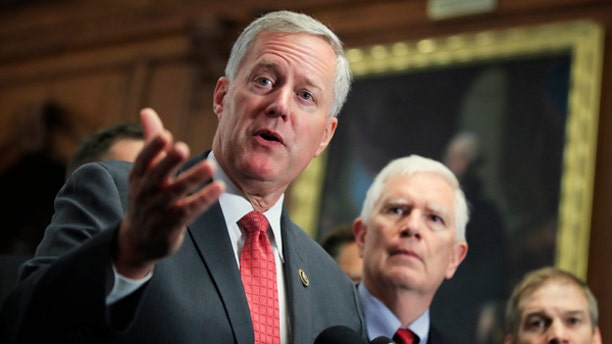 Rep. Mark Meadows, R-N.C., leads the Freedom Caucus, which could hold the key to a spending deal
