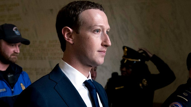 Facebook CEO Mark Zuckerberg is seen above before his testimony on Capitol Hill earlier this year.