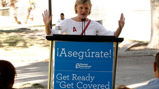 Actress Martha Plimpton speaks during an Affordable Care Act outreach event hosted by Planned Parenthood for the Latino community in Los Angeles, California September 28, 2013.