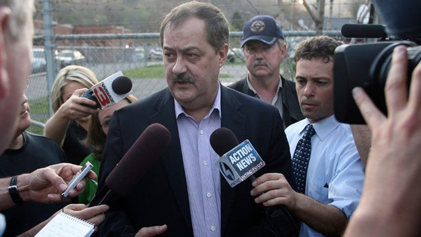 April 6, 2010: Don Blankenship, CEO of Massie Energy, talks with reporters near the Upper Big Branch Mine in Montcoal, W.Va.