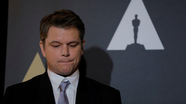 "Actor Matt Damon speaks at the reception before the 89th Academy Awards in Hollywood, Calif. He is now facing a petition to remove his cameo in ""Ocean's 8."""
