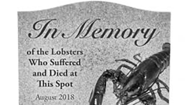 A mockup of the memorial that would be in place on a Maine highway.