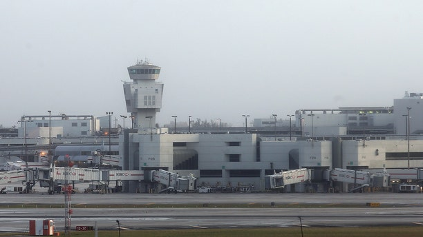Empty runways and gates are see at Miami International Airport after Hurricane Irma strikes Florida, in Miami