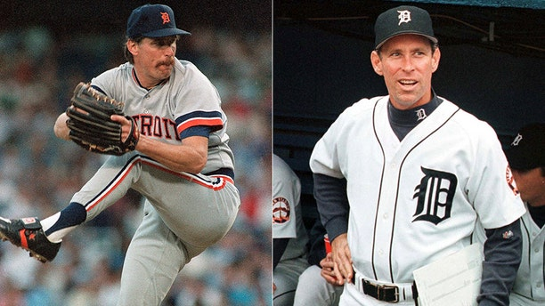 Former Detroit Tigers teammates Jack Morris, seen at left in 1988, and Alan Trammell, seen in 1999, were elected to the baseball Hall of Fame.