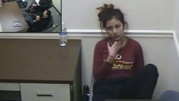 Venus Romero Iraheta told police during an interrogation she grabbed her victim by the threat, hit her and stabbed her.