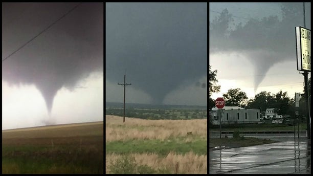 Multiple tornadoes touched down May 18 in Oklahoma.