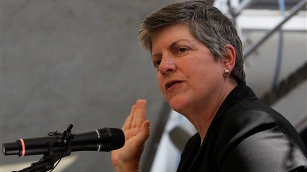 FILE: April 5, 2011: Department of Homeland Security Janet Napolitano administers an oath of citizenship during a naturalization ceremony in New York.