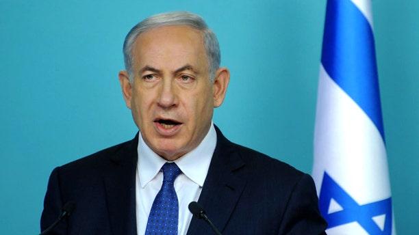 April 1, 2015: Israeli Prime Minister Benjamin Netanyahu speaks during a press conference in Jerusalem.