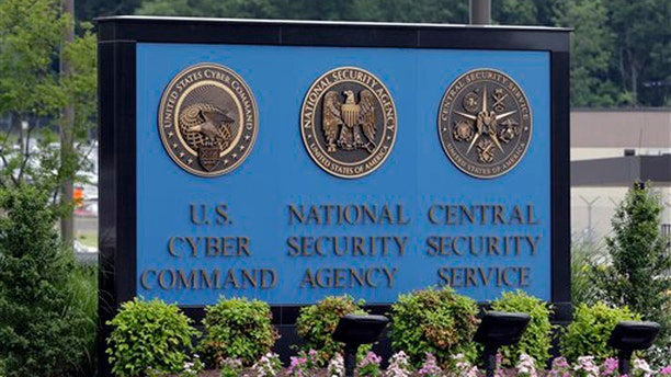 FILE: In this photo a sign stands outside the National Security Administration (NSA) campus on in Fort Meade, Md.