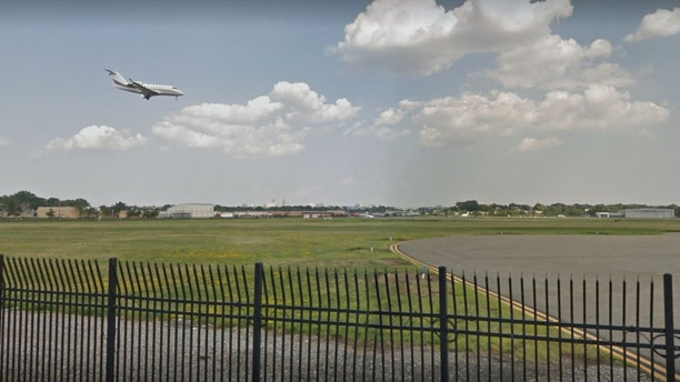 A photo of Teterboro Airport where a woman led police on a wild pursuit Tuesday.