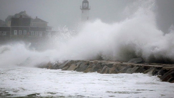 The nor'easter pounded the east coast on Friday, March 2, 2018.