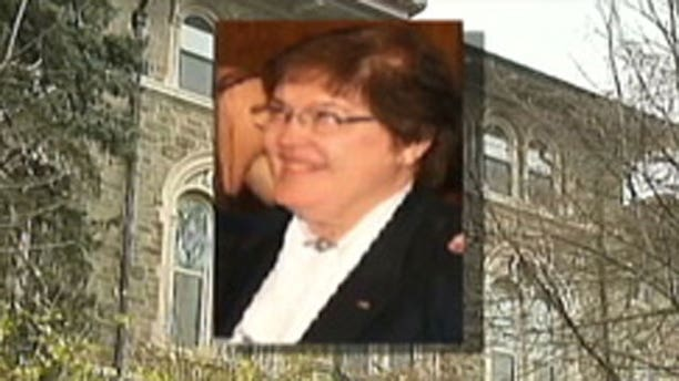 Sister Marie Thornton charged with embezzling $850,000 from Iona College for gambling purposes.