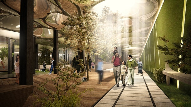 Nov. 25, 2014: This undated artist's rendering provided by The Lowline shows a deep underground park that could be created in a 116-year-old abandoned trolley terminal below the Lower East Side.