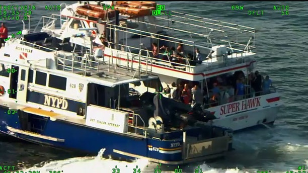 NYPD rescued a pregnant woman from the Atlantic Ocean Wednesday afternoon.