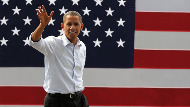 Aug. 18, 2012: President Obama arrives for a campaign event in Rochester, N.H.