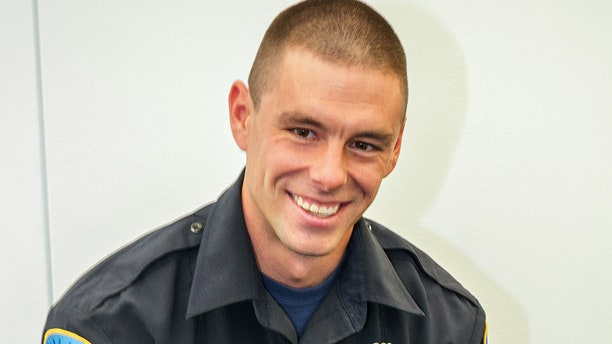 This undated photo provided by Wayne State University shows university police officer Collin Rose, who was shot in the head while on patrol near a university campus in Detroit on Tuesday, Nov. 22, 2016.