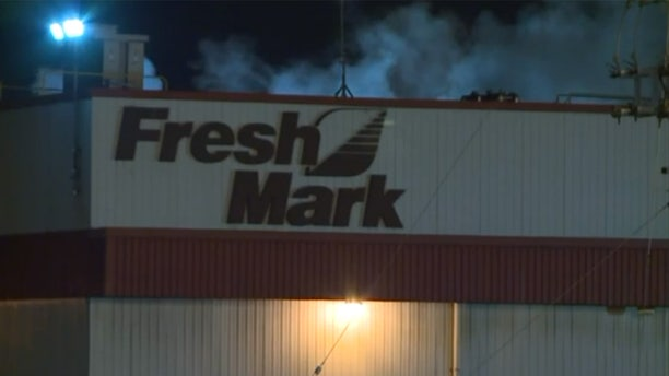 "An employee at the Fresh Mark plant in Canton, Ohio was killed Saturday in what officials said was an ""industrial accident."""