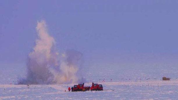 Kaboom! Dynamite, South Pole style.