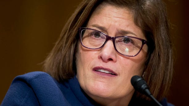 Feb. 4, 2016: Beth Cobert, President Barack Obama's nominee to head the Office of Personnel Management (OPM), testifies on Capitol Hill in Washington.
