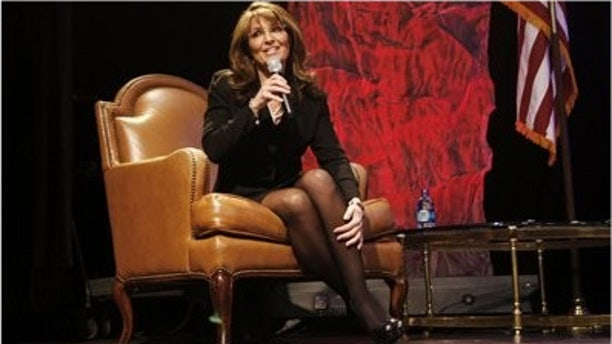 Sarah Palin takes questions at the National Tea Party Convention in Nashville on Feb. 6, 2010. (AP)