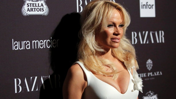 Pamela Anderson attends Harper's Bazaar's celebration of 'ICONS By Carine Roitfeld' at The Plaza Hotel during New York Fashion Week in Manhattan, New York, U.S., September 9, 2016.  REUTERS/Andrew Kelly - RTSN2SH