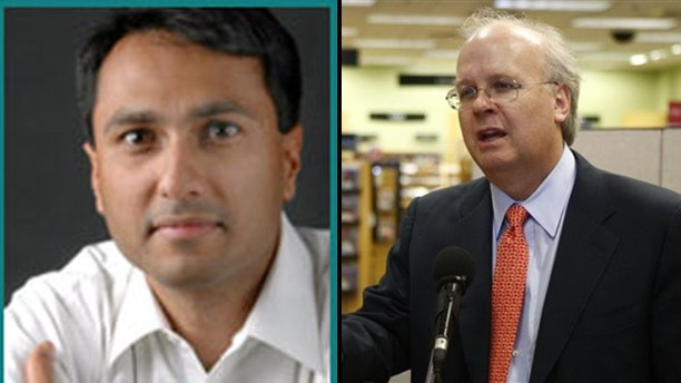 Loyola University Chicago has refused to host Karl Rove (r) but is welcoming Obama appointee Eboo Patel (l). (IFYC/AP)