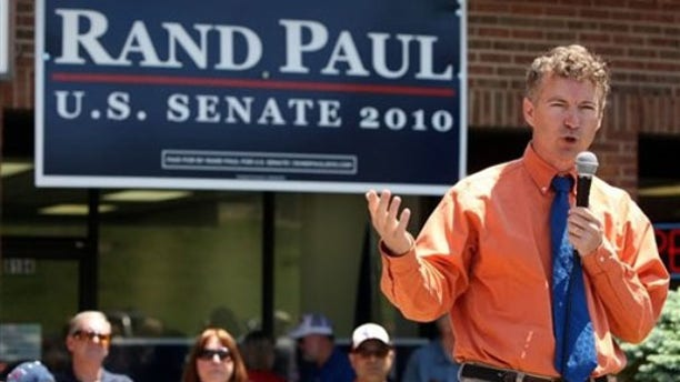 Rand Paul speaks to supporters at his Senate campaign headquarters in Florence, Ky., May 15. (AP Photo)