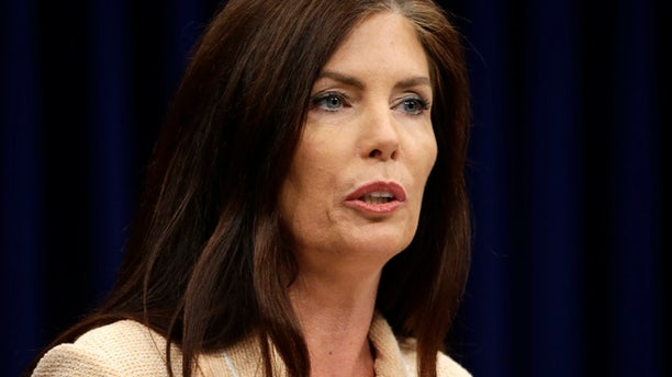 Aug. 12, 2015: Pennsylvania Attorney General Kathleen Kane speaks during a news conference at the state Capitol in Harrisburg, Pa.