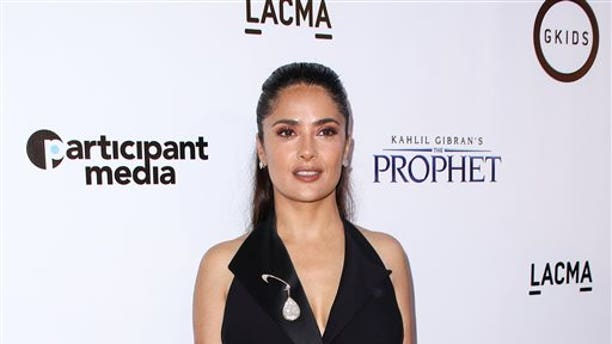 """July 29, 2015, Salma Hayek attends the LA Special Screening of """"Kahlil Gibran's The Prophet"""" in Los Angeles."""