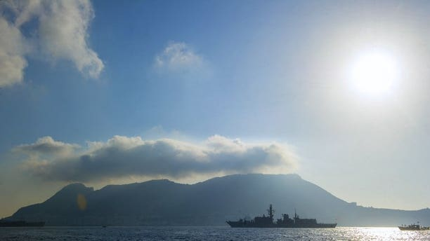 A picture taken on August 19, 2013 shows British frigate HMS Westminster arriving in Gibraltar. Spain has told Britain it must remove 70 concrete blocks dropped into the waters off Gibraltar before Madrid will agree to dialogue in a heated dispute over the British outpost.