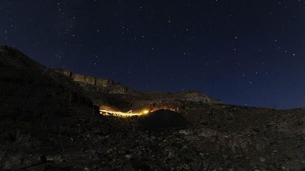 A coal mine is pictured in Samangan province, north of Kabul on August 7, 2012