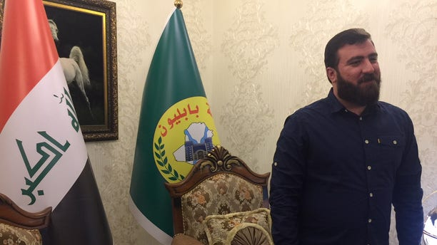 Rayan al-Kildani, leader of the PMF's Babylon Brigade.