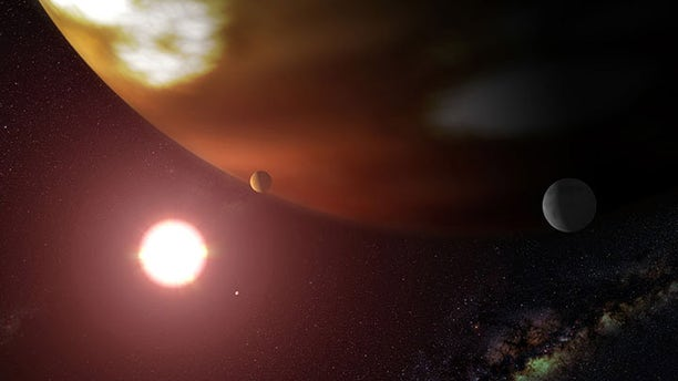Artist's impression of Thestias around its star Pollux. (Credit: NASA/ESA and G. Bacon, STScI)