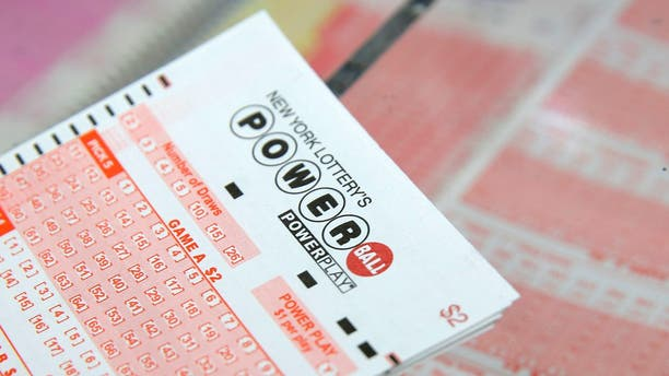 A Powerball ticket is seen in New York City, Feb. 22, 2017.