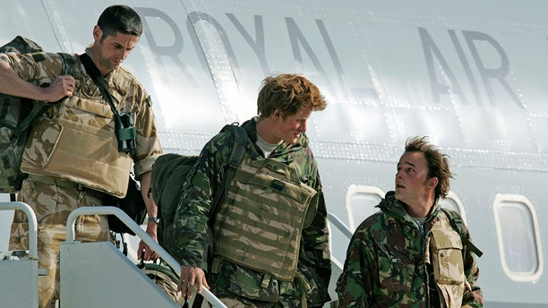 Prince Harry in the army.