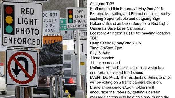 Email on right provided instructions to those willing to protest in favor of red light cameras, say Tea Party activists.