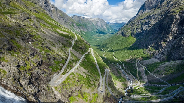 The Road of Trolls, popular touristic destination spot and one of the most scenery mountain roads in the world. Trollstigen, Norway.