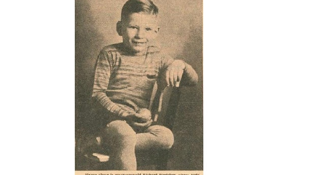 Old newspaper clipping of Richard Streicher Jr. (Robison-Bahnmiller Funeral Home)