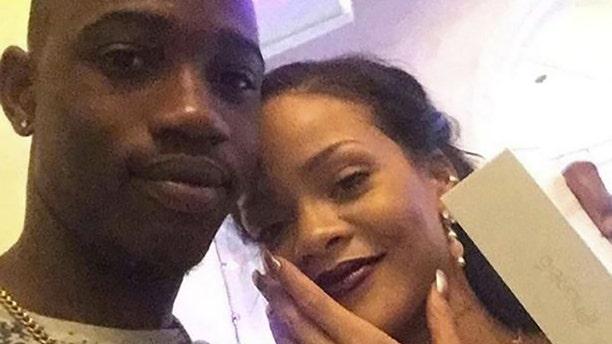 Tavon Kaiseen Alleyne pictured with Rihanna.