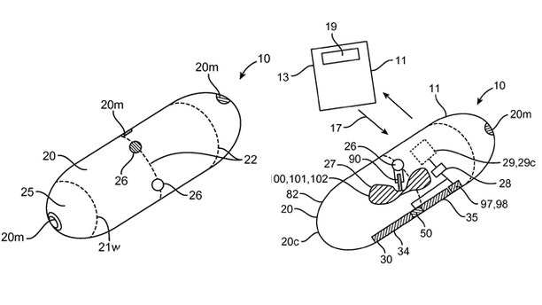 Patent filings detail how a pill could deliver a payload.