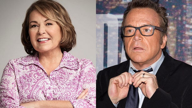 Tom Arnold, right, believes his ex-wife Roseanne Barr wanted the ABC sitcom canceled.