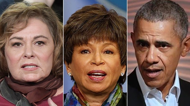 Roseanne Barr's Twitter meltdown may have a political payoff for Valerie Jarrett and former President Barack Obama.
