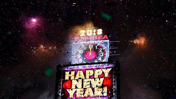 FILE -- Fireworks go off in Times Square to celebrate the New Year in New York City, New York, U.S., January 1, 2018.