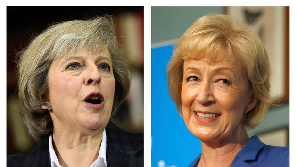 Home Secretary Theresa May, left, and Energy Minister Andrea Leadsom.