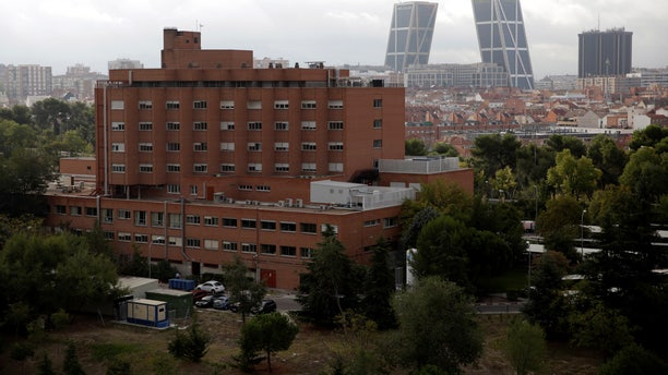 A general view of the Carlos III hospital is seen in Madrid, Spain October 7, 2014. A nurse who contracted Crimean-Congo hemorrhagic fever (CCHF) is being treated at the hospital. REUTERS/Andrea Comas/File Photo - RTX2NRYA