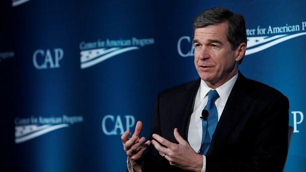 North Carolina Gov. Roy Cooper delivers a speech in Washington, May 16, 2017.