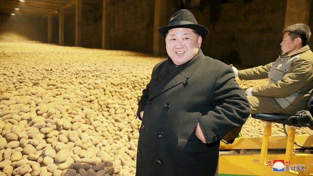 Kim Jong Un is often pictured at food processing plants or factories showing an abundance of food in North Korea.