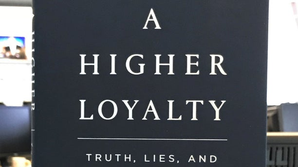 """A copy of former FBI director James Comey's book """"A Higher Loyalty."""""""